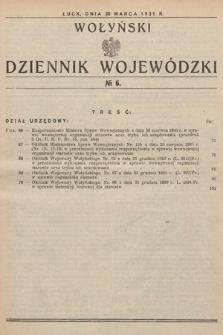 Wołyński Dziennik Wojewódzki. 1931, nr6