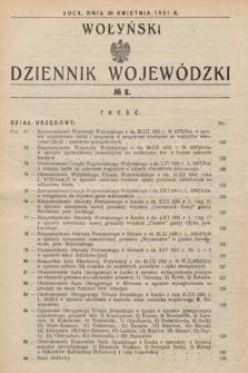 Wołyński Dziennik Wojewódzki. 1931, nr8