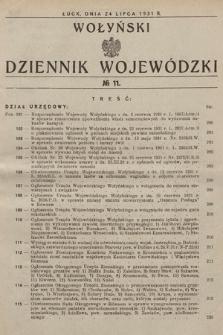 Wołyński Dziennik Wojewódzki. 1931, nr11