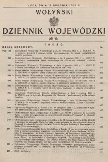 Wołyński Dziennik Wojewódzki. 1931, nr19