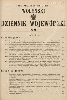 Wołyński Dziennik Wojewódzki. 1936, nr12
