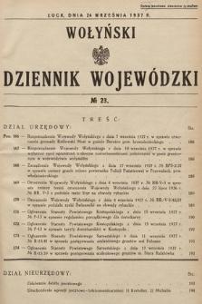Wołyński Dziennik Wojewódzki. 1937, nr23