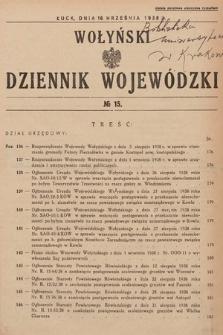 Wołyński Dziennik Wojewódzki. 1938, nr15