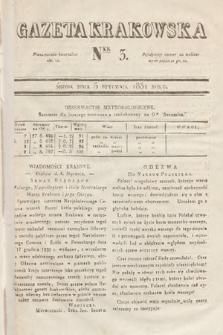 Gazeta Krakowska. 1831, nr3