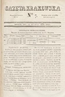 Gazeta Krakowska. 1831, nr7