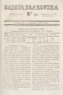Gazeta Krakowska. 1831, nr10