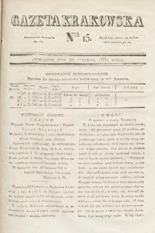 Gazeta Krakowska. 1831, nr15