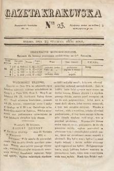 Gazeta Krakowska. 1831, nr23