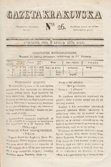 Gazeta Krakowska. 1831, nr26