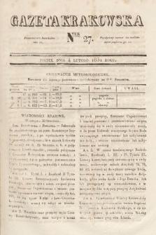 Gazeta Krakowska. 1831, nr27