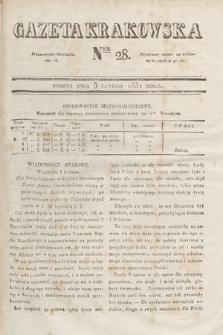 Gazeta Krakowska. 1831, nr28