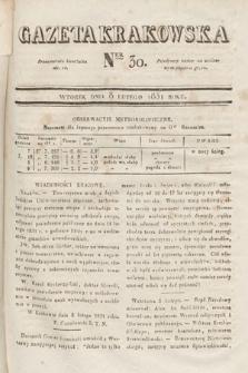 Gazeta Krakowska. 1831, nr30