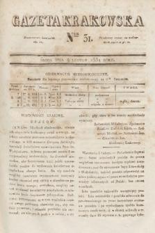 Gazeta Krakowska. 1831, nr31