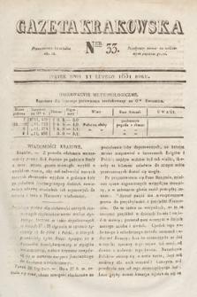 Gazeta Krakowska. 1831, nr33