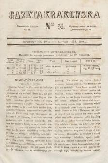 Gazeta Krakowska. 1831, nr35