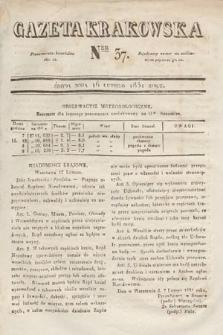 Gazeta Krakowska. 1831, nr37