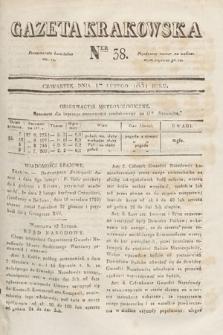 Gazeta Krakowska. 1831, nr38