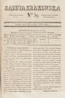 Gazeta Krakowska. 1831, nr39