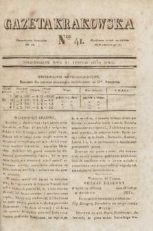 Gazeta Krakowska. 1831, nr41