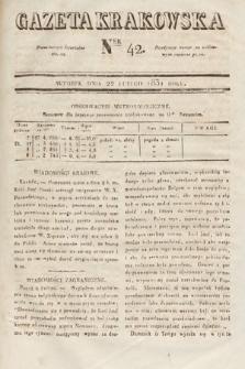 Gazeta Krakowska. 1831, nr42