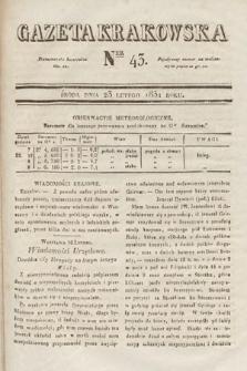 Gazeta Krakowska. 1831, nr43