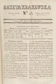 Gazeta Krakowska. 1831, nr45