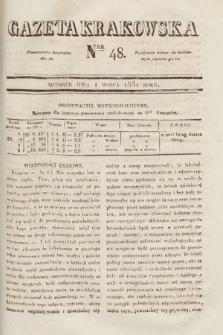 Gazeta Krakowska. 1831, nr48