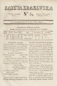 Gazeta Krakowska. 1831, nr54