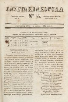 Gazeta Krakowska. 1831, nr56