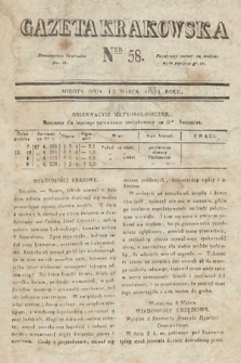 Gazeta Krakowska. 1831, nr58