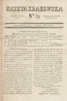 Gazeta Krakowska. 1831, nr59