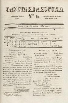 Gazeta Krakowska. 1831, nr61