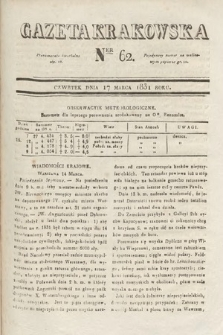 Gazeta Krakowska. 1831, nr62