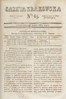 Gazeta Krakowska. 1831, nr69