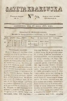 Gazeta Krakowska. 1831, nr70