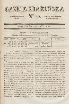 Gazeta Krakowska. 1831, nr72