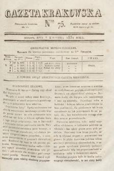 Gazeta Krakowska. 1831, nr75