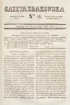 Gazeta Krakowska. 1831, nr76