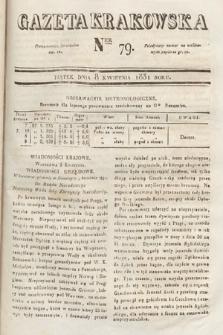 Gazeta Krakowska. 1831, nr79