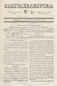 Gazeta Krakowska. 1831, nr82