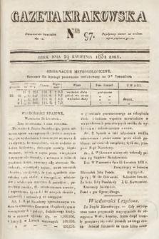 Gazeta Krakowska. 1831, nr97