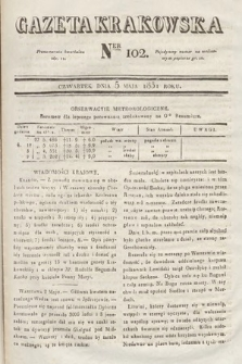 Gazeta Krakowska. 1831, nr102