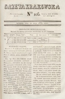 Gazeta Krakowska. 1831, nr106