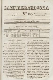 Gazeta Krakowska. 1831, nr109