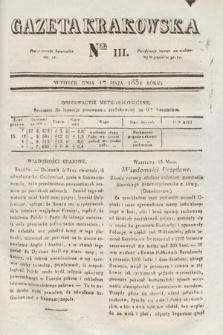 Gazeta Krakowska. 1831, nr111