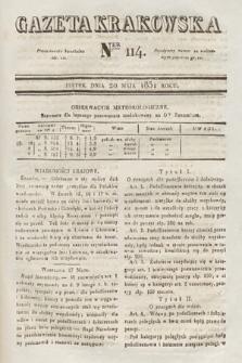 Gazeta Krakowska. 1831, nr114