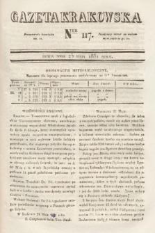 Gazeta Krakowska. 1831, nr117