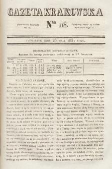 Gazeta Krakowska. 1831, nr118