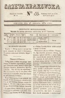 Gazeta Krakowska. 1831, nr135