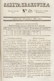 Gazeta Krakowska. 1831, nr137